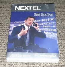 Sealed Nextel Motorola i1000plus Cellular Phone Telephone Lot Of 2 Book Manual