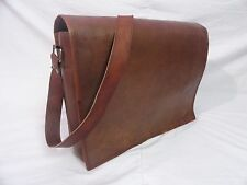 "Vintage Leather Messenger Bag 13"" Macbook Pro/Air Laptop Satchel Crossbody Bag"
