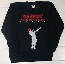 Kids Boys Christmas Jumper Sweatshirt Outfit Dabbin' Through The Snow 3-14 yrs