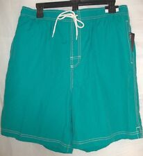 Roundtree & Yorke Swimwear Size L Large Rich Teal New Mens Swimming Trunks