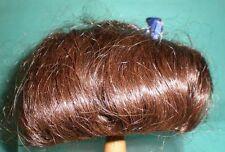 "Peluca de muñeca/cabello humano 12"" a 12.5"" D. Marrón 1 Trenza/wancke/EHP dunkelbr .30/32"
