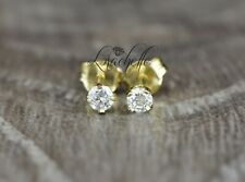 0.25ct Round Cut Natural Diamond Stud Earring Solid 14K Yellow Gold