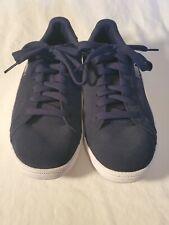 New Puma Men's Suede Smash Navy White Casual Retro Sneakers Tennis Shoes