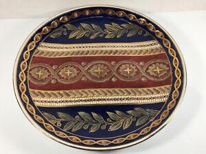 "ORIENTAL ACCENT Decorative 10.25"" Plate Multi-color Gold Trim"