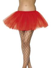 Red Petticoat Tutu Short 30cm Underskirt Ladies Sexy Fancy Dress Accessory
