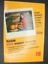 Kodak Ek6 Instant Camera 1976 Instruction Book / Manual / User Guide
