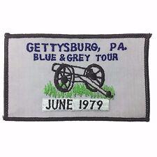 Vintage Bicycle Tour GETTYSBURG, PA Blue Grey Tour 1979 Cycling Patch