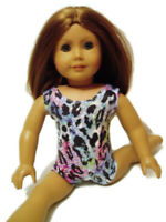 Colorful Animal Print Leotard Fits American girl dolls 18 inch Doll Clothes
