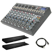 Citronic CM8-LIVE 8 Channel Live + Studio Mixing Desk Mixer + USB + SD + Effects