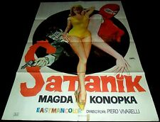 Satanik ORIGINAL SPAIN 69' POSTER SEXY Erotic Magda Konopka ART By JANO Trash