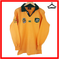 Australia Rugby Shirt Canterbury M Medium Vintage Polo Jersey Wallabies Long Sle