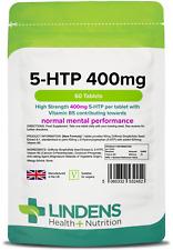 Lindens 5-HTP 400mg TRIPLE PACK 180 tablets 5 HTP 5HTP L-5-hydroxytryptophan B5