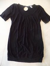 ladies SMALL PURE ZONE MATERNITY BLACK SWEATER shirt S/S work career PLAIN long