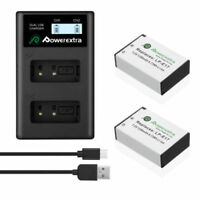2x LP-E17 Lithium Battery + LCD Charger For Canon M3 750D 760D Kiss X8i T6i T6s