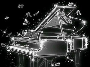 Fashion Full Drill Diamond Painting Piano Music Butterfly Hand Embroidery N9043