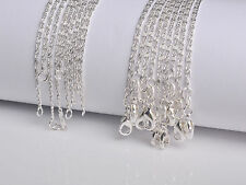 "10PCS Wholesale 20"" Nice Jewelry 60% Silver Chain Flat S Necklaces For Pendant"