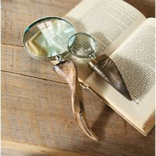 Mud Pie E8 Lodge Horn Magnifying Glasses 4051021 / 4051020 Choose Size