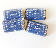 50 DENIM AND DIAMONDS MINI CANDY BAR WRAPPERS PARTY FAVORS