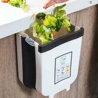 Wall Hanging Folding Creative Waste Bin Kitchen Cabinet Trash Can Garbage Box