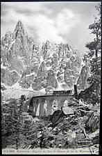 FRANCE~1900's CHAMONIX~Chemin de fer~Aiguille du Dru JJ