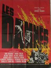 Les damnés affiche film format 120x160 cm MASCII 1969