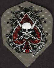 Skull Ace of Spades Dimplex Dart Flights: 3 per set
