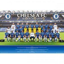 Chelsea FC 2013-2014 Team Squad Poster English Premier League new Blues Soccer