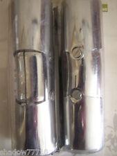2 x chrome silver metal bay window curtain pole corner bend joint 35mm diameter
