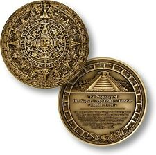 Aztec Calendar Mayan Pyramid Challenge Coin Apocalypse Prophecy Prediction 2012