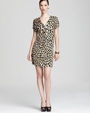 Diane von Furstenberg Golden Animal Dots Natalie Dress $375 NWT 2