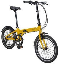 Durban Bike 20-Inch Wheel Bay Pro Folding Bicycle - Yellow
