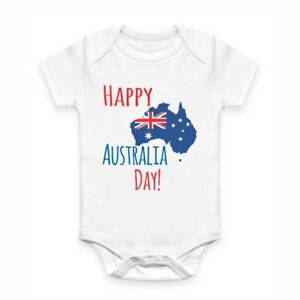 Cute Baby Clothes - Romper with print - Australia Day
