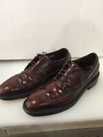 Florsheim Imperial Quality Cordovan Long Wingtip , Mens Size 10 , 2A
