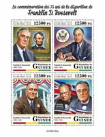Guinea Famous People Stamps 2020 MNH Franklin Roosevelt Churchill Lincoln 4v M/S
