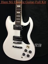 Haze SG Style Electric Guitar Solid body White+ Free gig bag Full Kits SEG-275WH