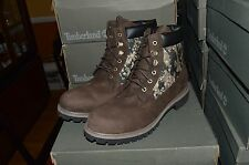 "NIB Timberland A115E Men's 6"" Inch Brown Camo Panel Boots Double Sole Size 11.5"