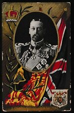 GREAT BRITAIN 1911 Old King George V Coronation Souvenir Postcard