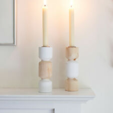 Wooden Candle Sticks / Holders for the Home Pair Contemporary Design