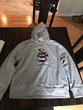 Polo Ralph Lauren Hockey Bear Hooded Sweatshirt USA Hoodie Hoody Sz XXL 2XL NWT