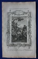 Original antique print JOHN THE BAPTIST IN THE WILDERNESS Southwell's Bible 1774
