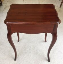 "Vintage Mahogany Side / End / Hall Table W/ Beautifully Shaped Legs Top 21"" Long"