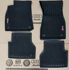 Audi A6 C8 4K original S6 Fußmatten Gummimatten vorne + hinten Gummifußmatten
