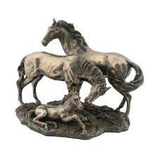 """8.5"""" Horse Family Farm Wildlife Animal Statue Collectible Barn Home Decor"""