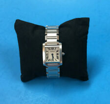 Cartier Ladies Watch Stainless Steel Tank ~ 2384 ~ Swiss Made