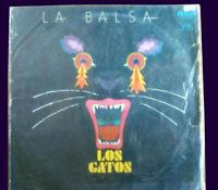 "LOS GATOS La Balsa LP ARGENTINA Beat Rock 1986 - 12"""