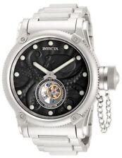Men's Invicta 11139 Mechanical Tourbillion Black Dial Stainless Steel Watch NEW