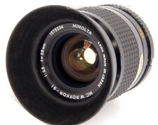 .FAST! Minolta MC W.Rokkor-SI 1:2.5 f=28mm WIDE-Angle Lens for Minolta 35mm SLR