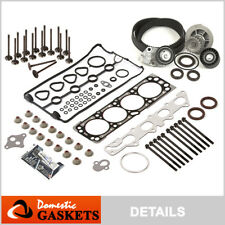 Fit 04-05 Chevrolet Aveo 1.6L Head Gasket Set&Bolt+Valves+Timing Belt Kit/w Pump