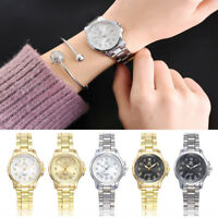 Women Business Stainless Steel Analog Quartz Watch Round Wrist Ladies Watches