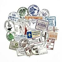 60 Unique Travel and Visa stamps from around the world for suitcases, bags...